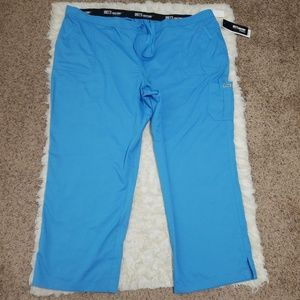 Sz 5X Scrub Pants Grey's Anatomy Barco Blue NWT